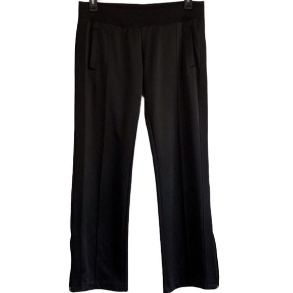 NIKE WORKOUT PANTS IN BLACK WITH ANKLE SIDE ZIP B6
